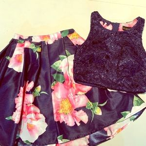My Michelle 2 piece skirt and top. EUC worn 1x!!